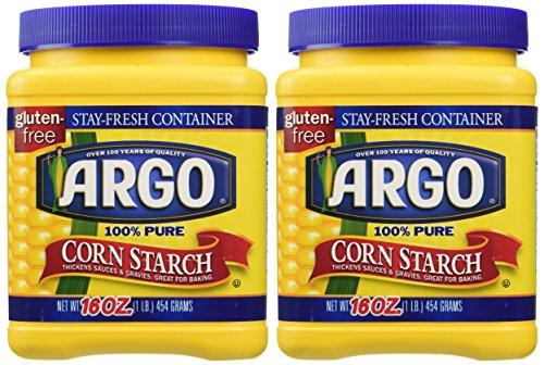 Argo 100% Pure Corn Starch, 16 Oz, Pack of 2