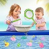 Lictin Jouet de Bain - Lot de 10 Jeux de Bain Jouet Bain Animaux avec Filet Jouets Bain, Filet de Pêche Jouet de Bain pour Bebe