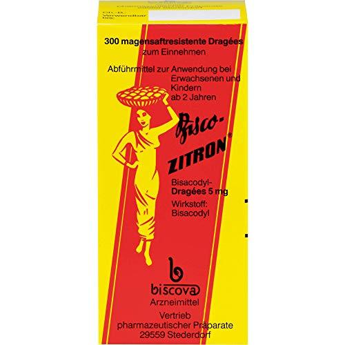 Bisco-ZITRON magensaftresistente Dragees, 300 St. Tabletten