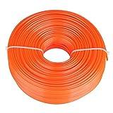 Trimmer Line Coupe-herbe à essence à fil carré en fil de nylon, 2,4 mm(120 mètres)