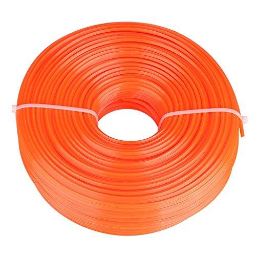 Línea de corte, línea de corte de 2,4 mm, cable de nailon, alambre, hilo cuadrado, cortadora de césped a gasolina(120米)