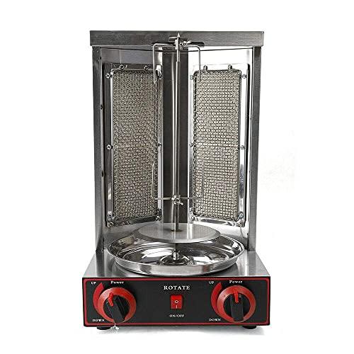 Gas Doner Kebab Machine, Dönergrill, Elektro-/ Tischgrill für zu Hause,360° Hitzeverteilung, Hähnchengrill, Gyrosgrill, Vertikalgrill, Drehgrill mit Schraubendreher