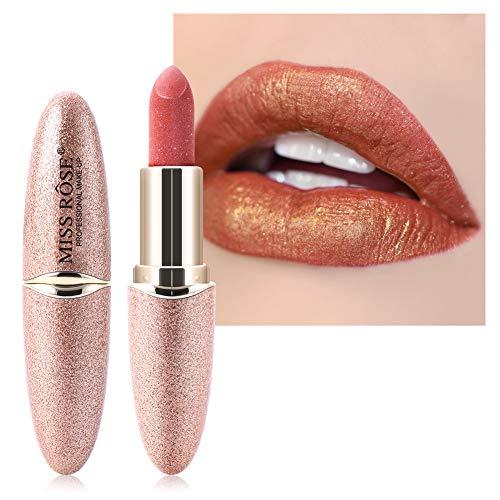 Wasserfeste Lippenstifte, perlmuttfarbener Lippenstift, Feuchtigkeitscreme für glatte Lippen, lang anhaltende Lippenstifte. Die Textur ist glänzend, leicht und feucht (#4)