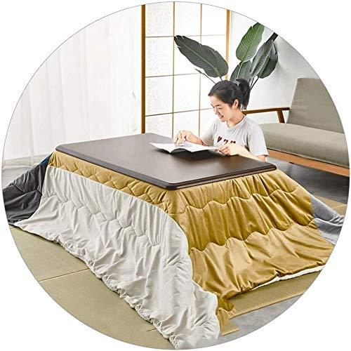 BESTPRVA Japanese Kotatsu Heater Table Coffee Tables Winter Kotatsu Table Set Solid Wood Heating Table Living Room Square Kotatsu Futon Table Tatami (Color : 75 * 75 * 38cm, Size : Brown)