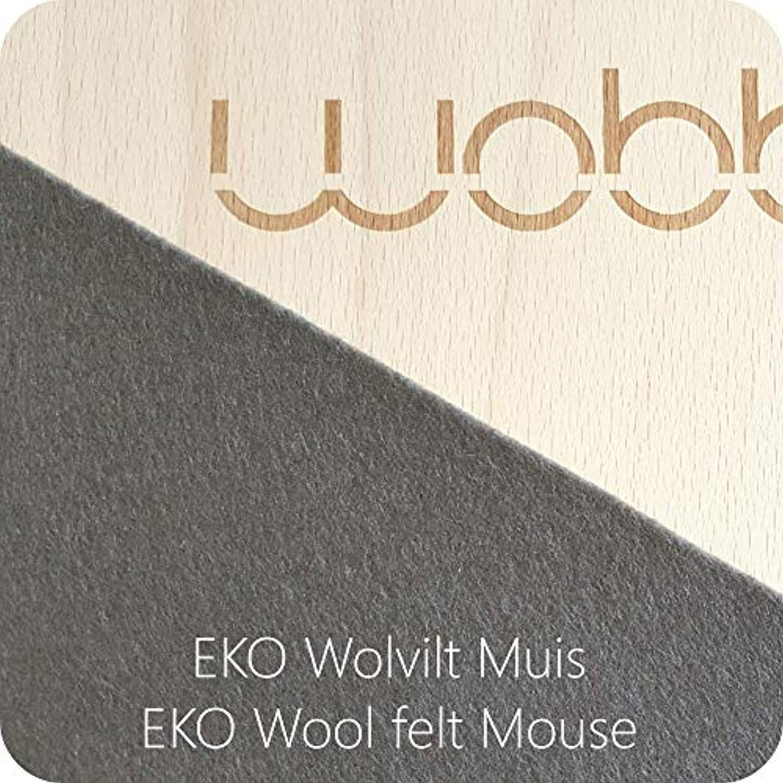 XL Wobbel Balanceboard transparent lackiert mouse grau yogaboard