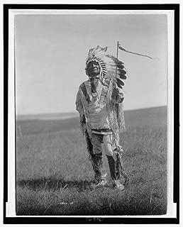 HistoricalFindings Photo: Photo of Arikara Chief,Indian,c1908,Sitting Bear,Medallion