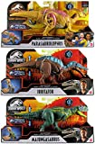 Jurassic World Bundle of 3 Sound Strike Dinosaurs: Parasaurolophus, Irritator, and Majungasaurus