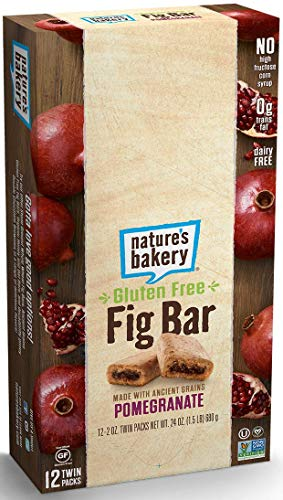 Natures Bakery Gluten Free Pomegranate Fig Bar -- 84 per case.