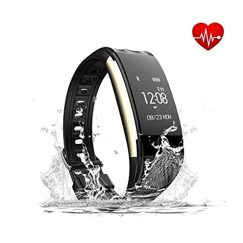 Zeyfit Smartwatch, Fitnessarmband, Cardio, GPS-Uhr mit Schrittzähler, Aktivitäts- und Schlaftracker, Pulsuhr, Touchscreen, Wasserdicht, für Android und iOS
