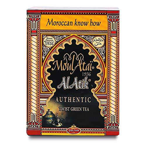 SULTAN TEA Marokkaner Al Atik Loser Grüner Tee, Bio Kräutertees (Packung mit 2 - 400g)