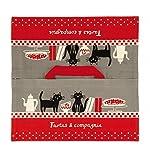 Derrière la porte–Borsa di trasporto per torta (cotone) rojo y gris
