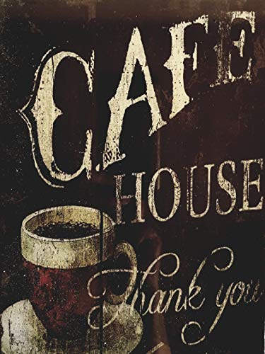 MR Cuadro de Madera Vintage Cafe House, Thank You, 24x18x1 cms