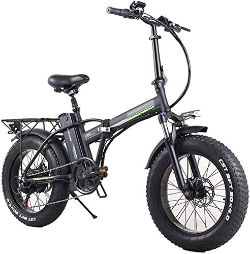 Electric Snow Bike, Folding Electric Bike for Adults, 7 Speeds Shift Mountain Electric Bike 350W Watt Motor, Three Modes Riding Assist, LED Display Electric Bicycle Commute Ebike, Portable Easy to Sto
