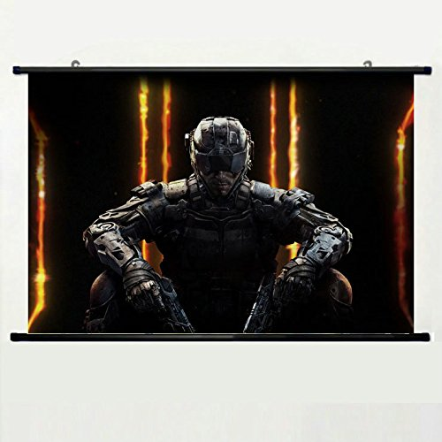 Wall Posters Wall Scroll Poster with Call of Duty Black Ops Activision Publishing Home Decor Fabric Painting 23.6 X 15.7 Inch