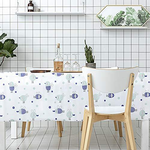 YOUYUANF Nappe plastiqueen napperonNappe rectangulaire, Nappe oblongue 100% Polyester pour Douche Nuptiale, Buffet de Restaurant de Banquet de mariage150x180 cm