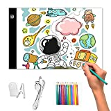 A4 LED Copy Board Light Table Light Pad, Portable Ultra-Thin Adjustable USB Port Art Tracing Light Box for Manga Beginner, Tattoo Drawing, Sketching, Architecture, Calligraphy, Artograph
