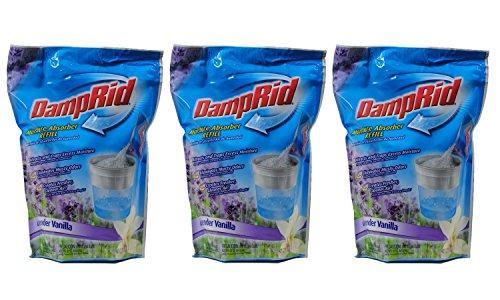 DampRid Moisture Absorber 42oz Refill Bag Lavender Vanilla Scent (Pack of 3)