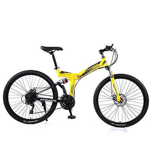 XINGXINGNS Opvouwbare Mountainbike Dubbele Schijfrem Hoog Koolstofstaal Schokabsorptie Frame 24 Speed 26 inch Sport Vrije tijd Mannen en Vrouwen Fiets