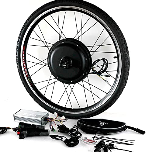 JINGJIN Kit de conversión de Bicicleta eléctrica de 48 V 20'24' 26'28' 700c, Kit de conversión de Bicicleta eléctrica con Motor de buje de 1000 W,FrontWheel-24INCH