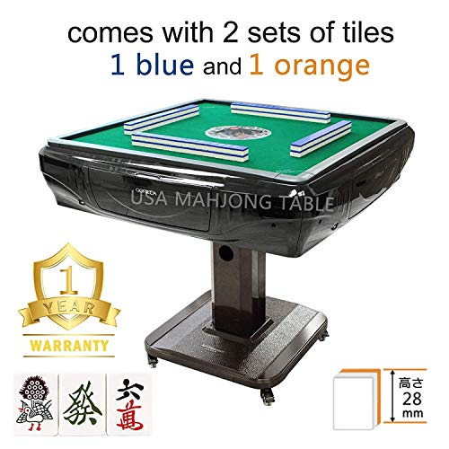 148Tiles 28 mm Japanese Riichi Automatic Mahjong Table with 4 Wheels,Drawers 日本麻雀 マージャン with 2 Sets of...