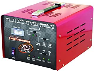 XS Power 12 Volt / 16 Volt Car Battery Intelli Charger with Three Charging Modes and LED Indicator for S375, D925, S1200, D1600, S1600 and XP1000 Powercell Batteries