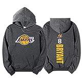 CBVB Baloncesto con Capucha para Bryant # 8, Lakers otoño y Baloncesto del suéter del Invierno, además de Terciopelo de los Hombres de la impresión con Capucha, Regalo de Grey-S