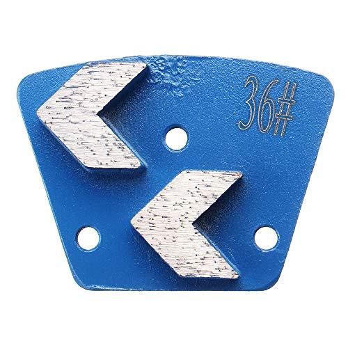 Trapezoïde slijpen schijven, YOUTTOO 36 Grits Trapezoid diamant slijpen schijf pad schrapers voor slijper betonnen vloer