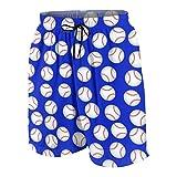 Baseball Pattern Boys Quick Dry Swim Trunks Cute Board Shorts...