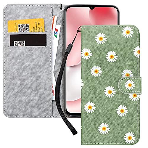 Yoedge Handyhülle für Xiaomi Mi 10T Lite 5G Lederhülle,Grün Premium Leder Flip Hülle mit Exquisites Muster Brieftasche Klapphülle Handytasche Hülle für Redmi Note 9 Pro 5G 6,67
