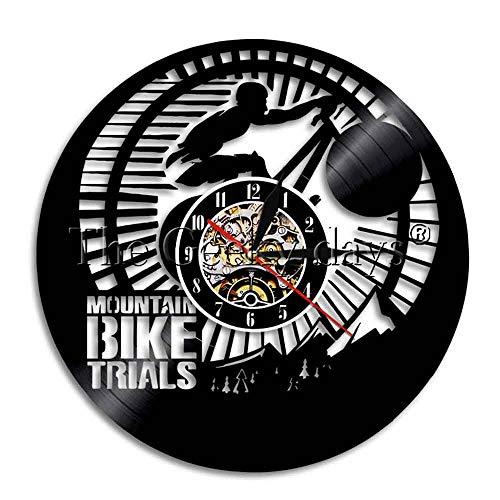 1 Mountainbike Freerider Wanduhr Mountainbike Test Sport Bike Art Bike Racing mit LED Hintergrundbeleuchtung
