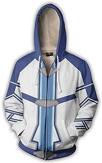 starfun Sword Art Online Kirito Kirigaya Kazuto Hoodies Sweatshirt Cosplay Costume Jacket Coat Unisex