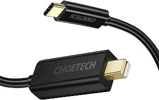USB C Mini DisplayPort 変換ケーブル Thunderbolt 3対応 usb c to ミニ ディスプレイポート 4K 60Hz 1.8m USB Type C Mini Displayport USB-C Thunder...