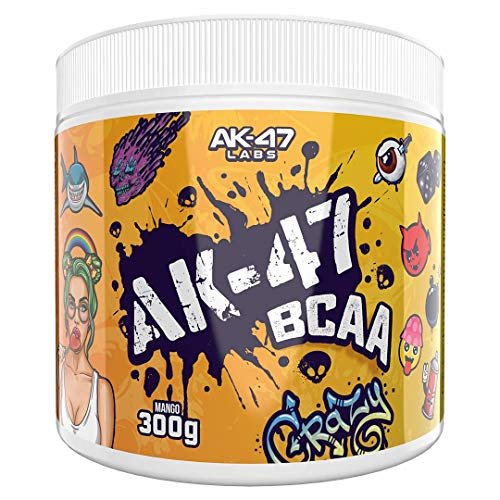AK 47 Labs BCAA Powder | Sugar Free Branched Chain Amino Acids Supplement with Electrolytes for Recovery & Hydration - 300g / 30 Servings - 7.5g BCAAs for Men & Women | Mango