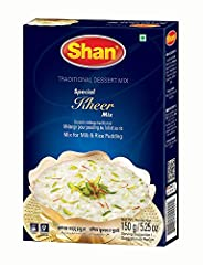 Shan Special Kheer mix is your saviour to make traditional dessert at home within minutes for a perfect dessert experience Provides taste and convenience to the cooking experience Your savior to rich and creamy traditional dessert made with a perfect...