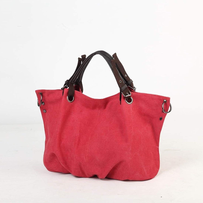 Lieyliso Damen Canvas Hobo Top-Griff Tasche Crossbody Umhängetasche OverGröße OverGröße OverGröße Handtasche (Farbe   rot) B07PZL51NM  Authentische Garantie 552ac5