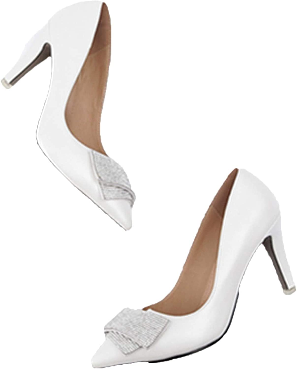 Show It Store Pointed Toe pu Leather Women Pumps Stiletto high Heels Fashion Elegant Party shoes