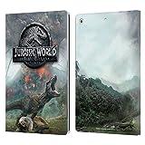 Head Case Designs Oficial Jurassic World: Fallen Kingdom Volcán T-Rex Arte Clave Carcasa de Cuero Tipo Libro Compatible con Apple iPad 10.2 (2019)/(2020)