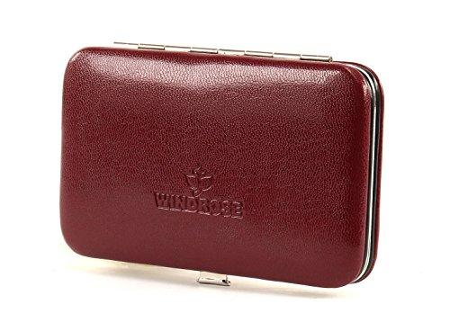 Windrose Merino Manicure Bügeletui 11 cm rot