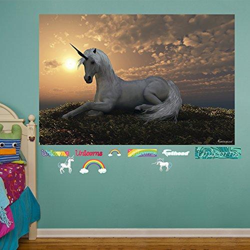 FATHEAD Unicorn at Dusk Mural Real Big Wall Decal