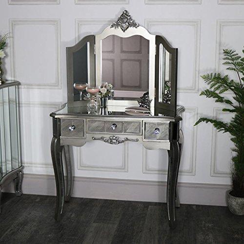 Melody Maison - Tavolo da toeletta a specchio e specchio da trucco, linea Tiffany