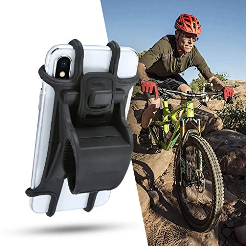 Bicycle Mount Handlebar Silicone Holder Bike Non-Slip Strap Shockproof Compatible with Huawei P30 Pro, Mate 20, Pro