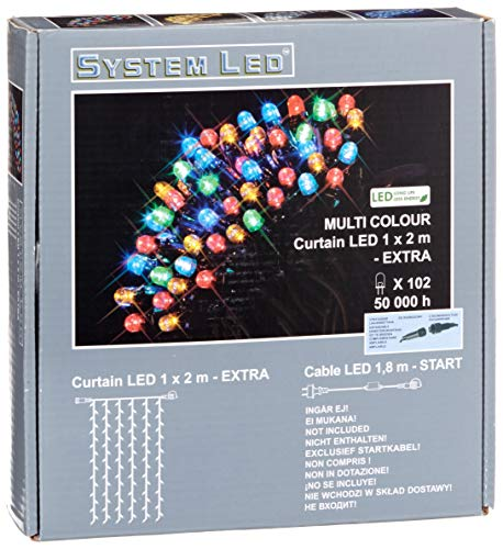 System LED 465-51 Extra Rideau lumineux LED Multicolore 100 x 200 cm