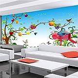 Mural 3D Pared,Planta De Naturaleza De Dibujos Animados De Árboles Frutales,Pintura Mural Personalizada 3D En Pared De Ladrillo Foto Fondo Niños Adultos Habitación Fondo De Pantalla Studio Pro