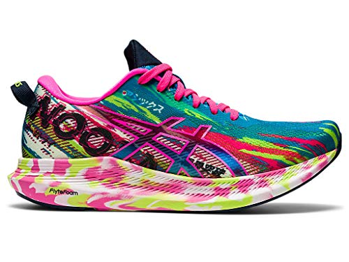 ASICS Women's Noosa Tri 13 Running Shoes, 7M, Digital Aqua/HOT Pink