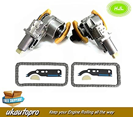 Pair For VW Passat AUDI A4 A6 2.7T 2.8 V6 Camshaft Timing Chain & Tensioner