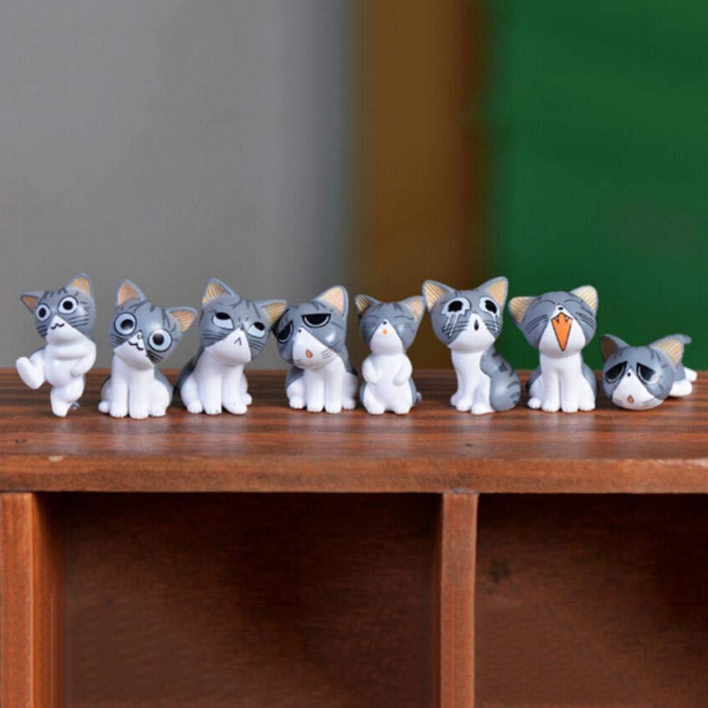 ESDdwe1dd23linyiming13dfDC 8 Piezas de Figuras de Hadas en Miniatura Miniaturas de jardín de Hadas Miniaturas de terrario de Gato Figuras de Gato de Queso Decoración de jardín en Miniatura, 2: Amazon.es: Hogar