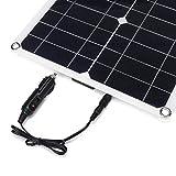 B Blesiya 4pcs / Set Panel Solar Monocristalino De 100W con Cargador De Panel Solar A Prueba De Agua