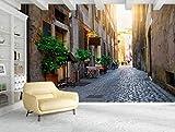 Fondos de pantalla 3d Roma ciudad street view foto biblioteca de fotos sala de estar restaurante hotel centro comercial decoración papel pintado 400cmx280cm Foto Mural-Cartel-Decoración de la pared-Pa