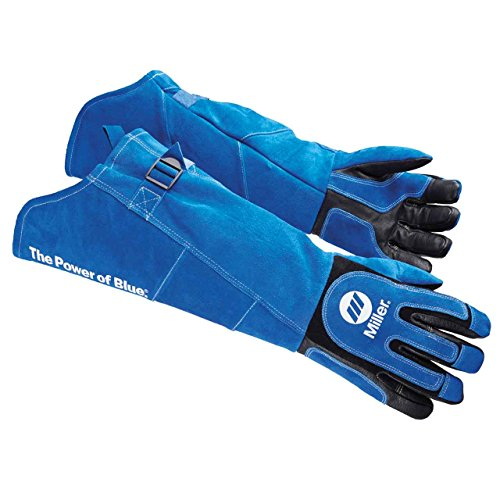 Miller 263342 Arc Armor Heavy Duty MIG/Stick Welding Glove 21' Long Cuff, X-Large