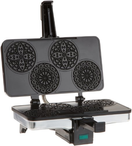 CucinaPro Mini Italian Pizzelle Waffle Maker Iron - Makes...